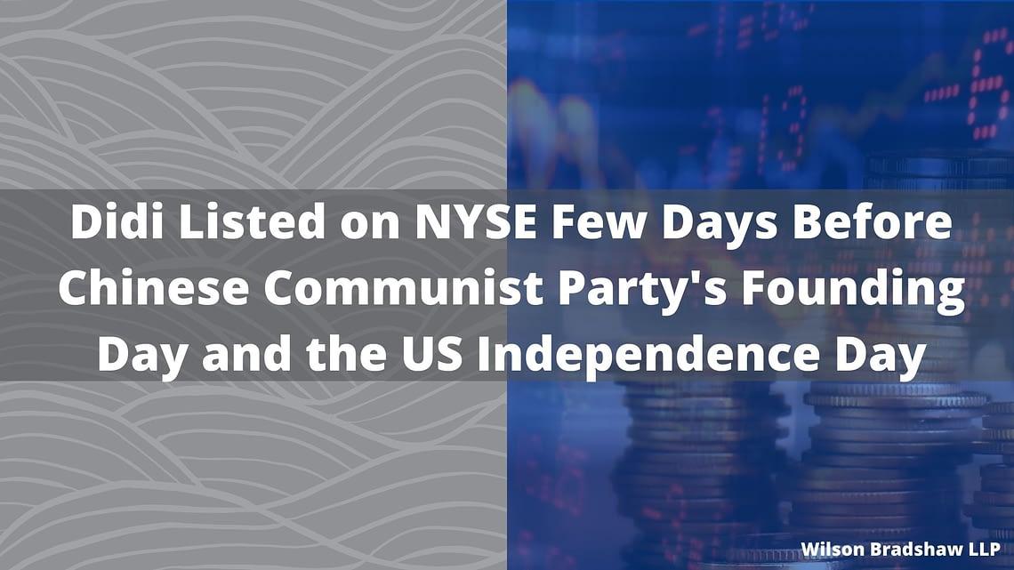 Didi Listed on NYSE