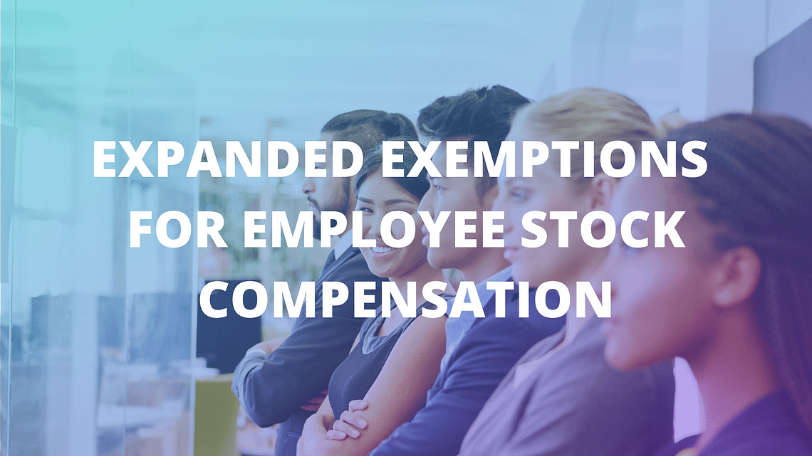EXPANDED EXEMPTIONS