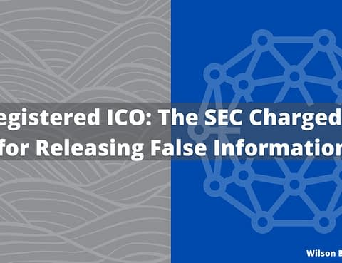 Unregistered initial coin offering