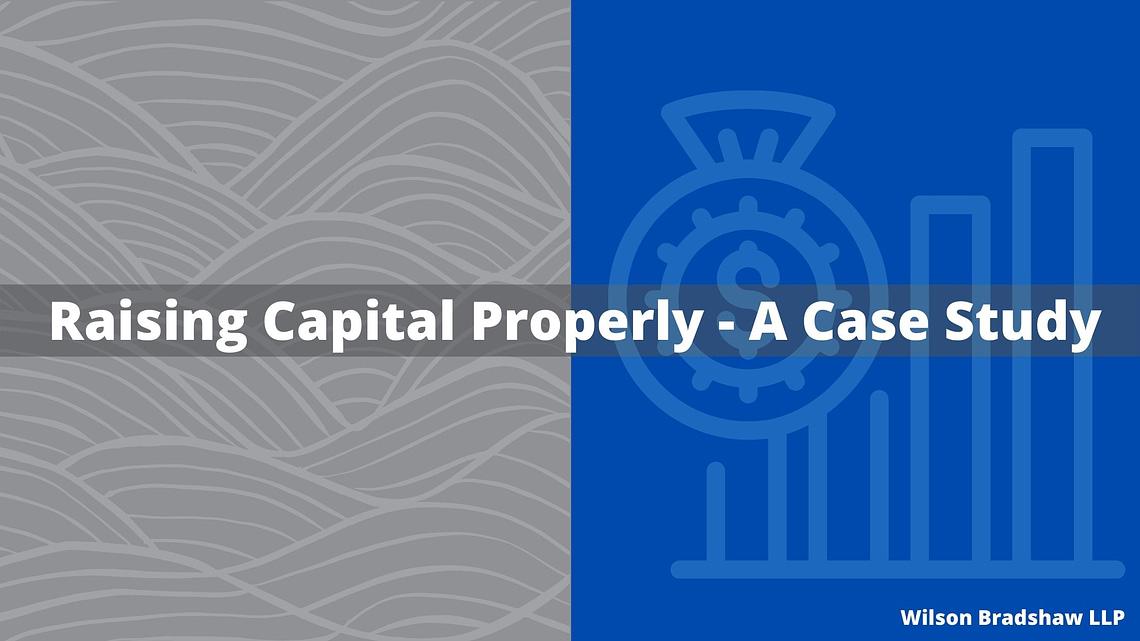 Raising Capital Properly