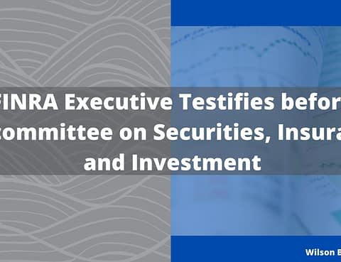 FINRA Executive Testifies before Subcommittee